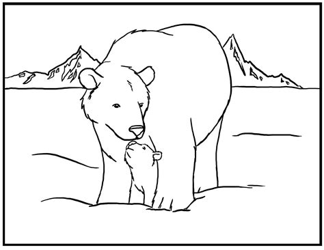 Free Printable Polar Bear Coloring Pages For Kids Polar Coloring Pages