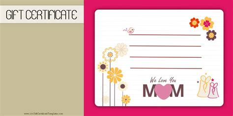 Gift Cards Templates by S Day Gift Certificate Templates