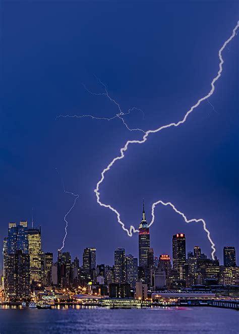 lightning bolts new york city photograph by susan