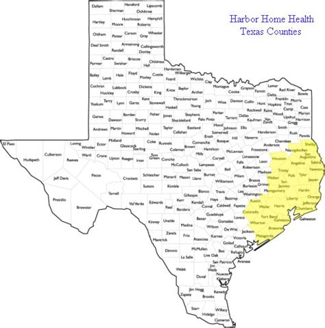 southeast texas county map harbor home health assists southeast texas seniors with speech therapy setx seniors