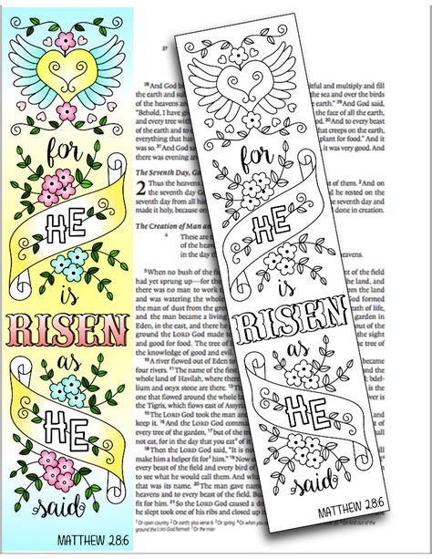 printable religious easter bookmarks easter 4 bible journaling printable templates