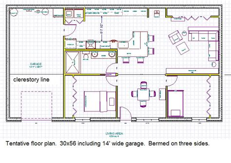 berm home floor plans earth sheltered underground floor plans
