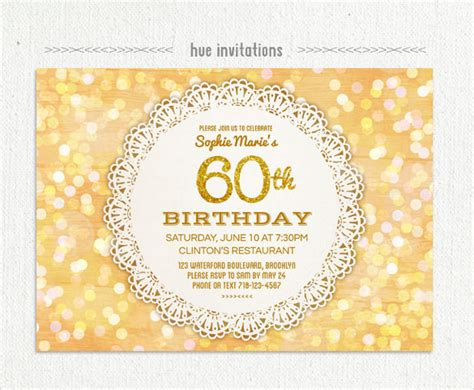 invitations for 60th birthday templates 22 60th birthday invitation templates free sle