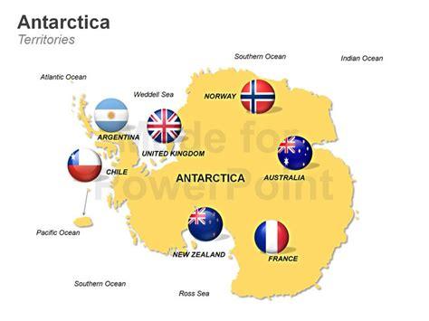 antarctica political map antarctica map editable ppt maps