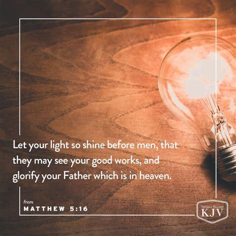 kjv verse of the day matthew 5 14 16