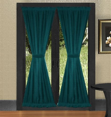 dark colored curtains dark teal french door curtains