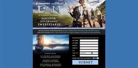Good Housekeeping Sweepstakes 2015 - goodhousekeeping com pan good housekeeping s pan discover neverland sweepstakes