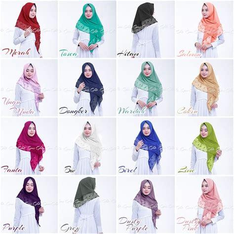Jilbab Segi Empat Rubiah jilbab segi empat instan aluna rubiah lebaran bundaku