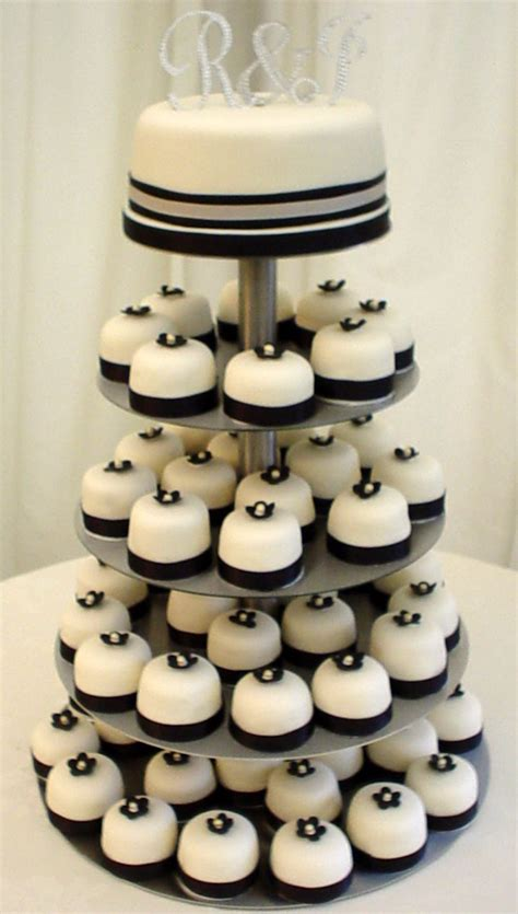 Mini Wedding Cakes by On The Budget Mini Cakes