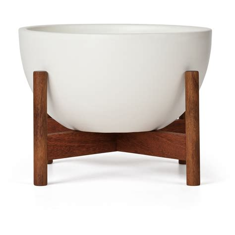 Table Top Planter by Study Table Top Planter Bowl With Wood Stand Modernica Horne