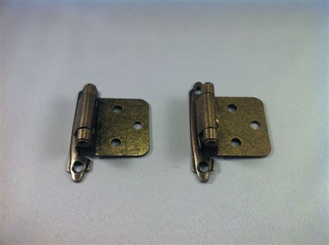antique brass self closing flush mount cabinet hinges ebay