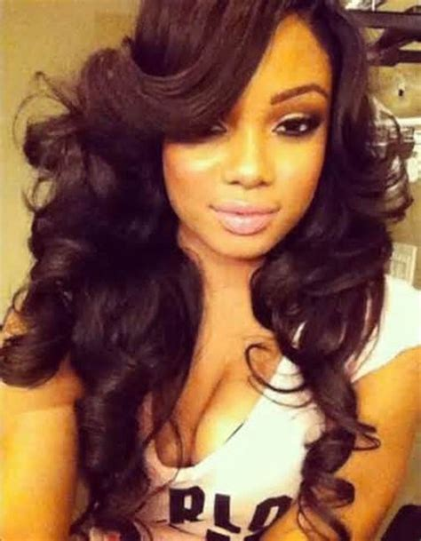 how to sewn in bang hair style on weave weave hairstyles with a deep bang hairstyles google