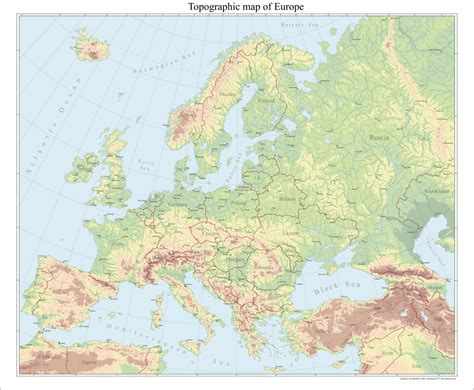 topographical map of europe topographical map by arminius1871 on deviantart