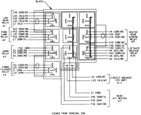 glamorous 97 dodge ram headlight switch wiring diagram