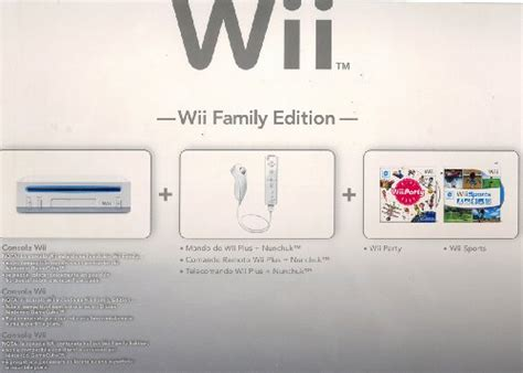 console wii family edition nintendo wii console wii family edition wii