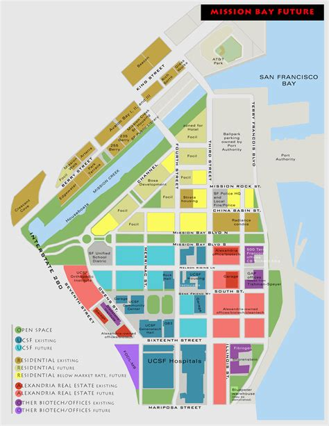 san francisco development map mission bay s past present and future landscape