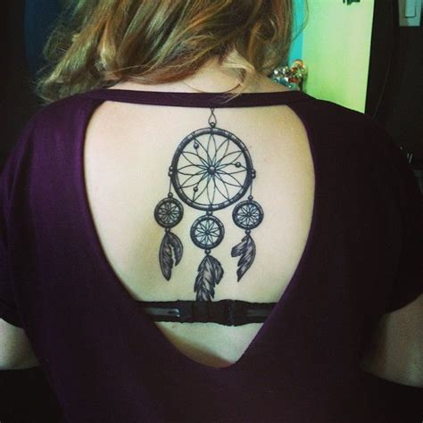 tattoo down your back dreamcatcher tattoo down spine