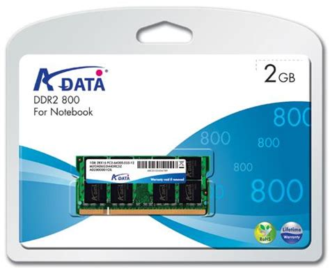 Team Elite So Dimm Ddr2 2gb 800mhz 2gb a data ddr2 so dimm pc2 6400 800mhz cl5 notebook