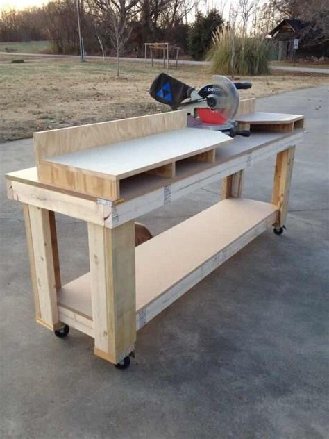 saw bench plans miter saw workbench woodworking projects plans