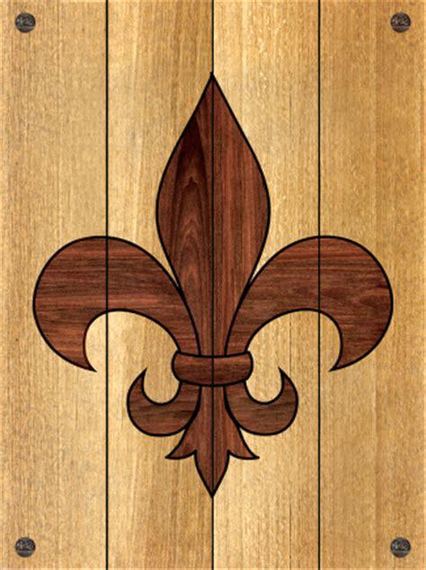 fleur de lis planked wood sign
