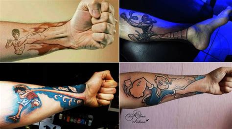 unterarm tattoo one piece awesome tattoos popeyes tattoo bruce lee tattoo one