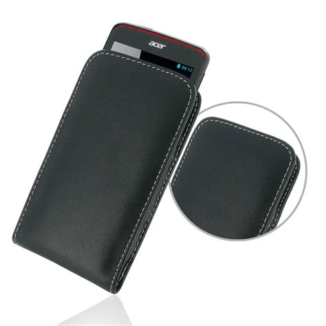 Leather Shell View Acer Liquid Z4 1 acer liquid z4 leather sleeve pouch pdair sleeve holster flip
