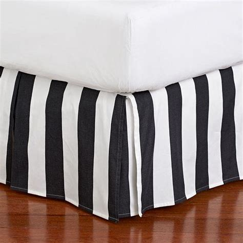 Black And White Striped Bed Skirt the emily meritt circus stripe bedskirt pbteen
