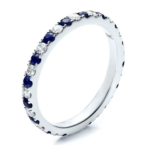 womens sapphire wedding bands sapphire eternity band with matching engagement ring