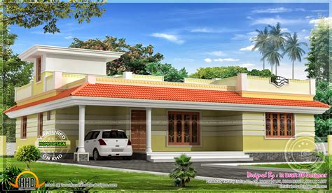 1858 sq kerala model single floor home kerala home