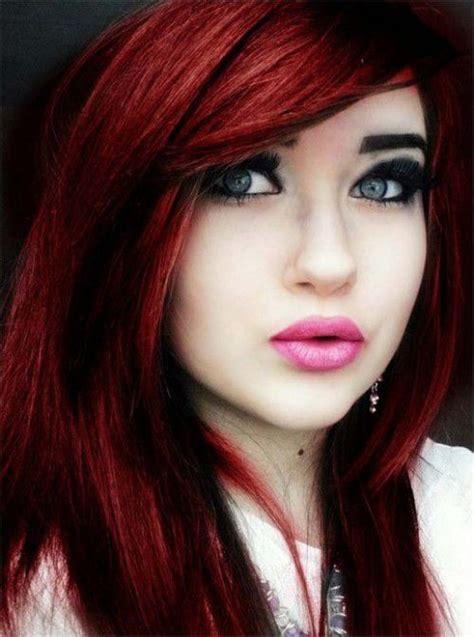trendy hair color of 2015 for house female hairstyle unique emo dark red hair color 2015 trends with heavy
