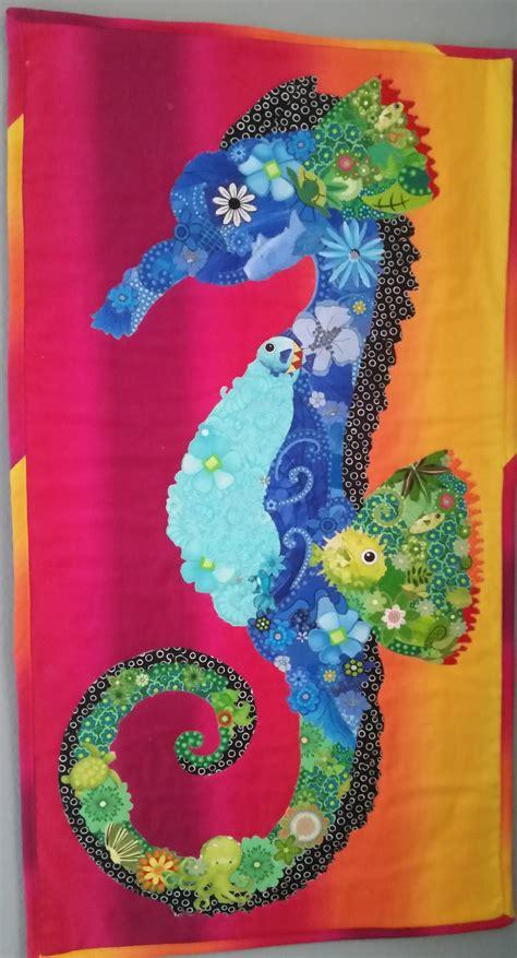 seahorse collage quilt