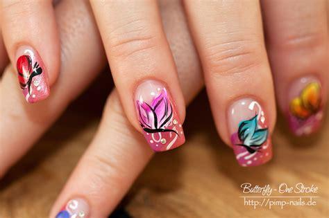easy nail art one stroke onestroke planet nails pimp nails