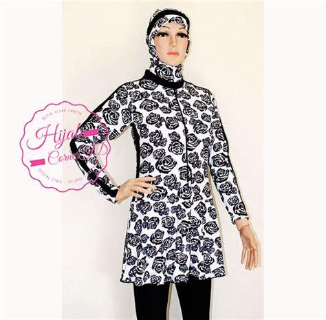 Kekinian Busui Friendly Soffel Dressgamis Katun Jepang Murah baju renang muslimah brm 018 hijabcornerid