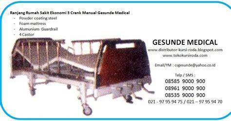 Sewa Ranjang Rumah Sakit tempat tidur pasien 3 engkol harga ekonomis toko medis