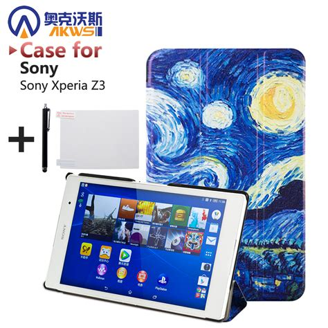 for sony z3 compact magnetic smart pu leather for sony xperia z3 compact tablet cover