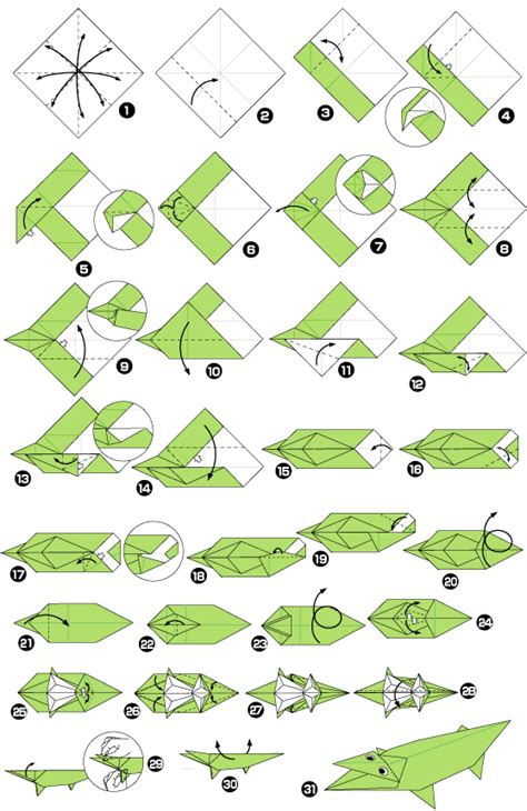How To Make A Paper Crocodile - origami of alligator