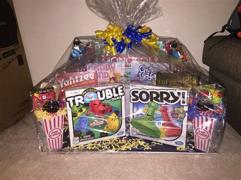 themed gifts for family family game night gift basket great ideas pinterest