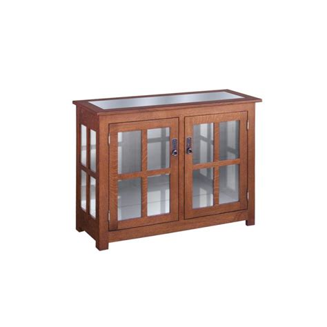 Kitchen Door Furniture by Curio Cabinet Two Door Amish Crafted Furniture