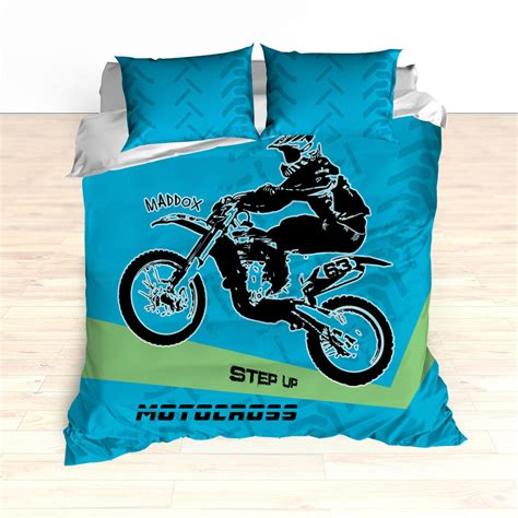 motorcycle bedding personalized motorcycle bedding motocross comforter