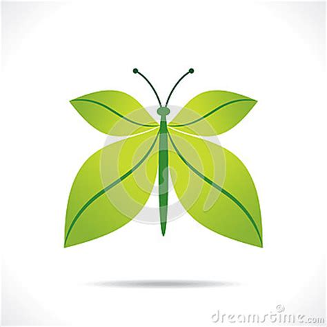 design concept leaf creative green leaf butterfly design concept stock vector