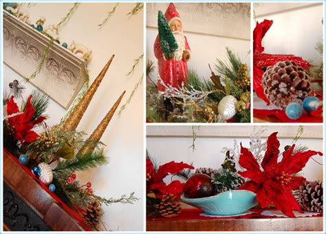 turquoise and red christmas decorations bright apple blossom