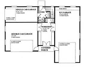 Rv Garage Floor Plans by Rv Garage With Privately Accessed Apartment Hwbdo76306
