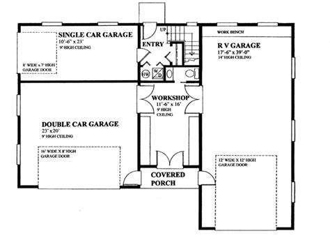 rv garage floor plans rv garage with privately accessed apartment hwbdo76306