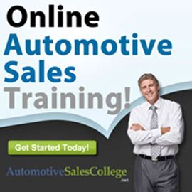 how to be a car salesman auto sales course how