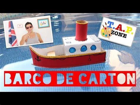 imagenes de barcos con cajas de carton tap zone como hacer un barco de carton youtube