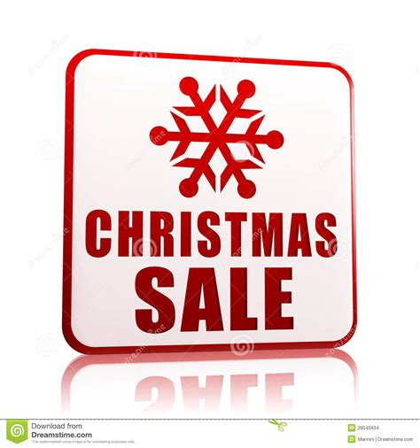 christmas sale white banner with snowflake symbol stock