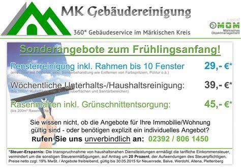 Angebot Muster Winterdienst sonderangebote f 252 r fensterreinigung unterhaltsreinigung
