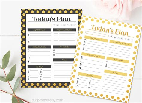 glam planner printable etsy printable glam planner pages personalized daily schedule
