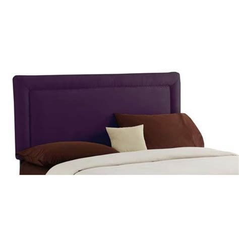 purple headboard queen border queen headboard premier purple skyline furniture