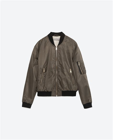 Bomber Jacket Quilted by Zara Quilted Bomber Jacket In Lyst